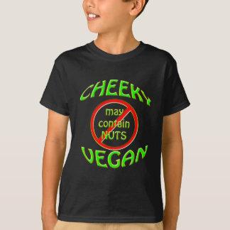 生意気なビーガンは、ナットを含むかもしれません Tシャツ