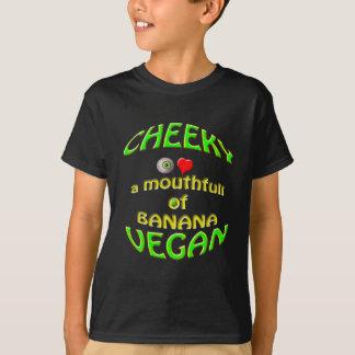 生意気なビーガンI愛バナナのmouthfull Tシャツ