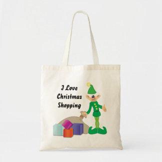 生意気な小妖精や小人のクリスマスの買い物袋 トートバッグ