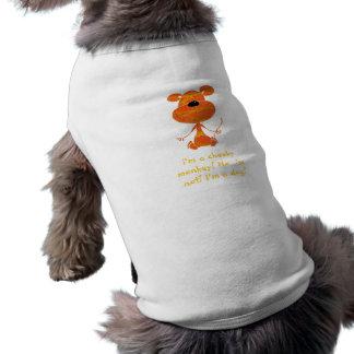 生意気な猿犬のTシャツ ペット服