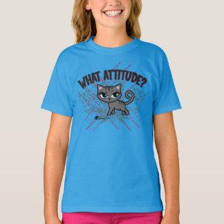 生意気な雑談かによるどんな態度かわいい猫のTシャツ Tシャツ