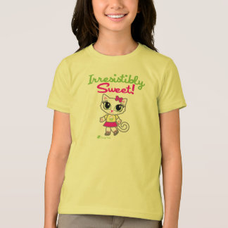 生意気な雑談による抵抗できなく甘くかわいい猫のTシャツ Tシャツ