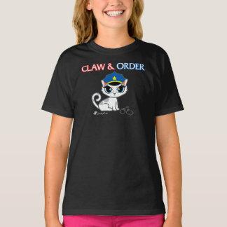 生意気な雑談による爪及び順序おもしろいな猫のTシャツ Tシャツ