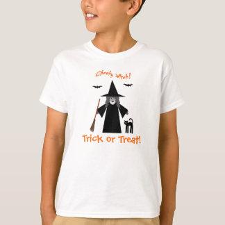 生意気な魔法使いのトリック・オア・トリートの子供のTシャツ Tシャツ