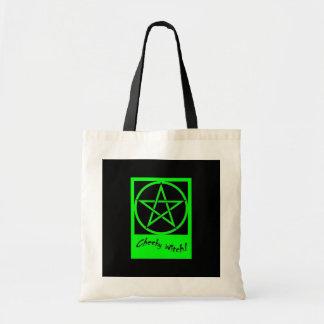 生意気な魔法使いのバッグ-緑 トートバッグ