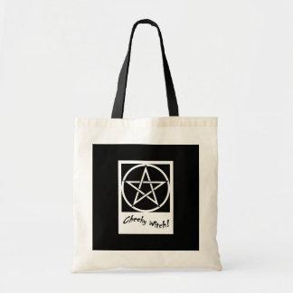 生意気な魔法使いのバッグ-黒及び白 トートバッグ