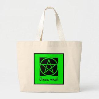 生意気な魔法使いの緑のコレクション ラージトートバッグ