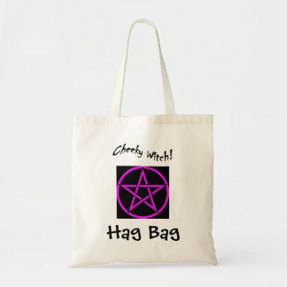 生意気な魔法使いの魔女のバッグ-ピンクの五芒星 トートバッグ