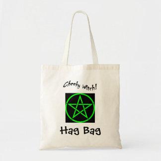 生意気な魔法使いの魔女のバッグ-緑の五芒星 トートバッグ