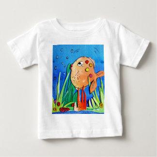 生意気な魚-pixi-art.com ベビーTシャツ