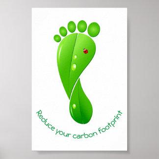 生態学的なあなたのカーボン足跡の緑を減らして下さい ポスター