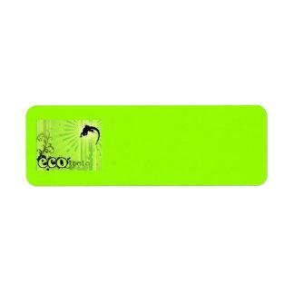生態学的な原因の環境の認識度のヤモリの緑 ラベル