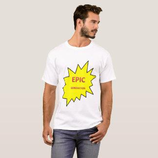 生成常にか叙事詩のロゴ Tシャツ