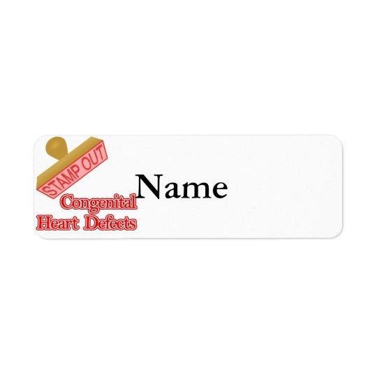 生来のハートの欠陥を押して下さい 返信用宛名ラベル