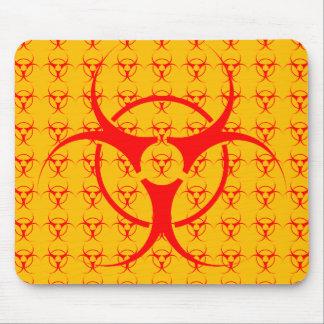 生物危険のマウスパッドの生物学的災害[有害物質]の警告のマウスパッド マウスパッド