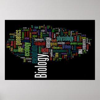 生物学のWordle第5黒 ポスター