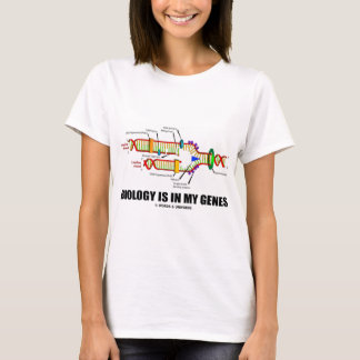 生物学は私の遺伝子(DNAの写し)にあります Tシャツ