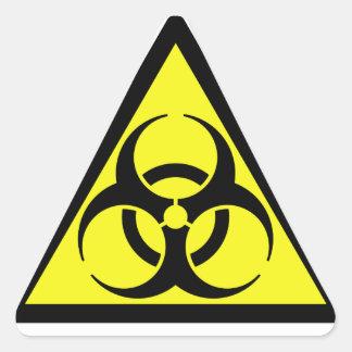 生物学的災害[有害物質]のステッカー 三角形シール