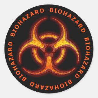 生物学的災害[有害物質]のゾンビの警告 ラウンドシール