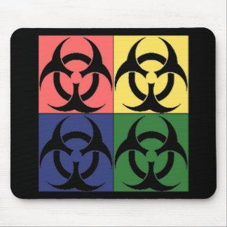 生物学的災害[有害物質]のポップアート マウスパッド