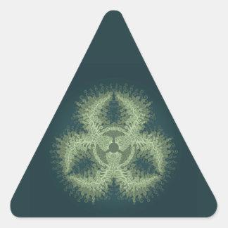生物学的災害[有害物質]の渦巻 三角形シール