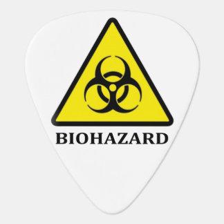 生物学的災害[有害物質]の記号のギターピック ギターピック
