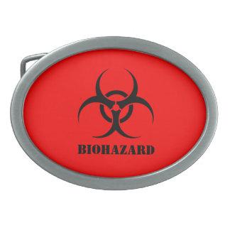 生物学的災害[有害物質]の記号赤いハロウィンは支柱に服を着せます 卵形バックル