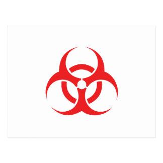 生物学的災害[有害物質]の記号 はがき