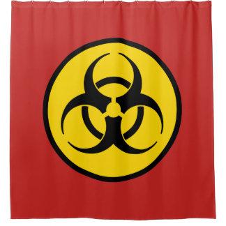 生物学的災害[有害物質]の記号 シャワーカーテン