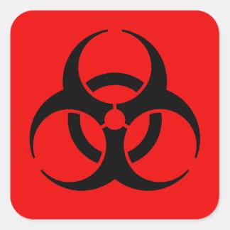 生物学的災害[有害物質]の記号 スクエアシール