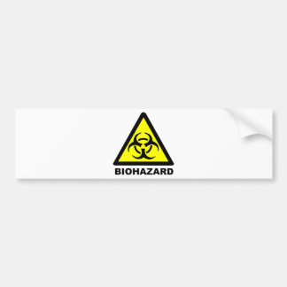 生物学的災害[有害物質]の記号 バンパーステッカー