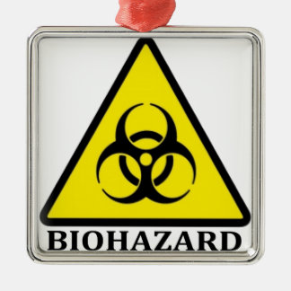 生物学的災害[有害物質]の記号 メタルオーナメント