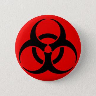 生物学的災害[有害物質]の記号 5.7CM 丸型バッジ