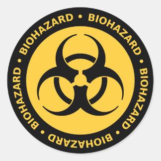 生物学的災害[有害物質]の警告のステッカー ラウンドシール
