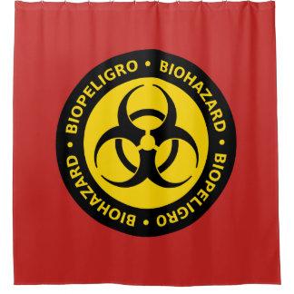 生物学的災害[有害物質]の警告標識 シャワーカーテン