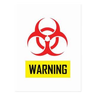 生物学的災害[有害物質]の警告 ポストカード