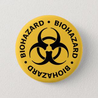 生物学的災害[有害物質]の警告 缶バッジ