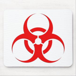 生物学的災害[有害物質]の赤いデザイン! マウスパッド