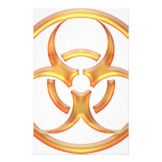 生物学的災害[有害物質]の金ゴールド 便箋