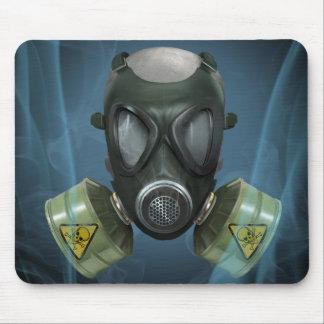 生物学的災害[有害物質]のGasmaskのマウスパッド マウスパッド