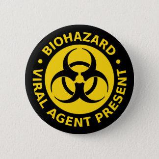 生物学的災害[有害物質] -ウイルスの警告 缶バッジ