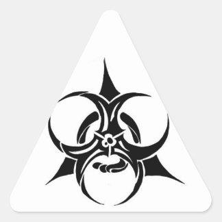 生物学的災害[有害物質] 三角形シール