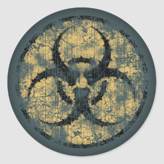生物学的災害[有害物質] -円- dist ラウンドシール