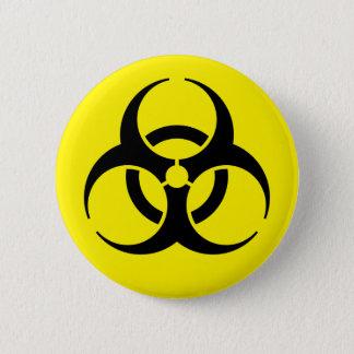 生物学的災害[有害物質] 5.7CM 丸型バッジ