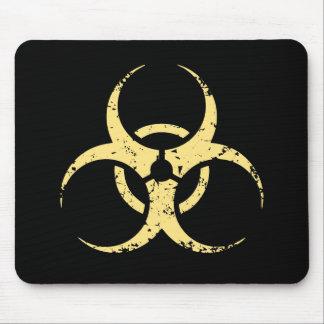 生物学的災害[有害物質] - dist -黄色 マウスパッド