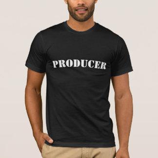 生産者の黒人男性のTシャツ Tシャツ