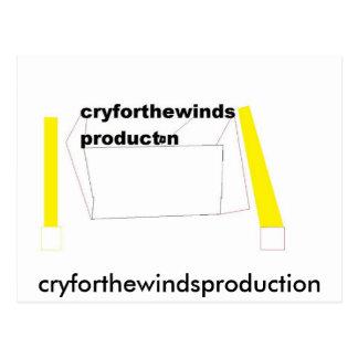 生産、cryforthewindsproduction ポストカード