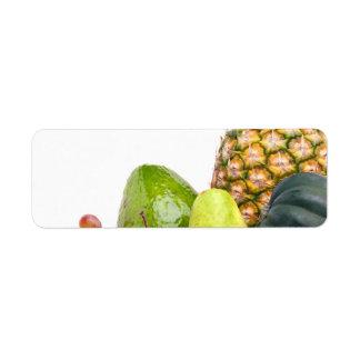 生鮮果実野菜のレイアウト ラベル