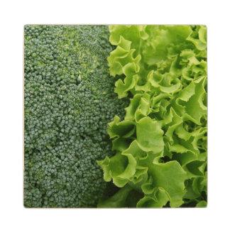 生鮮食品のレタスおよびブロッコリー ウッドコースター