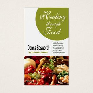 生鮮食品の栄養士の食糧コーチ、減量 名刺